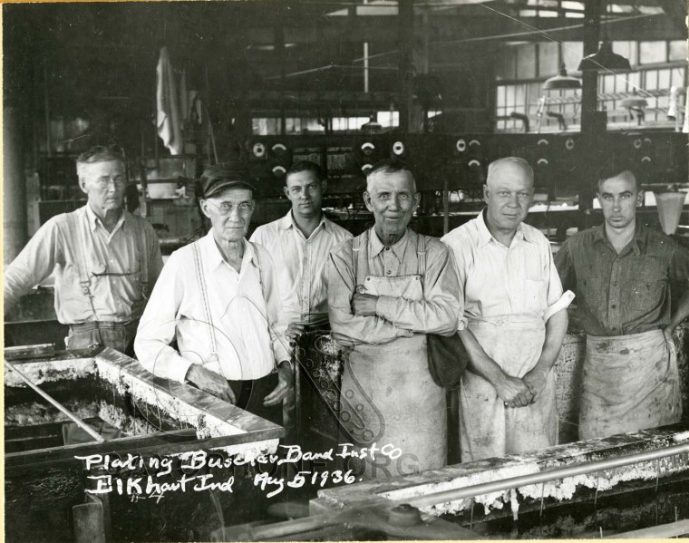 Buescher Band Instrument Co.  August 5, 1936-Plating Department
