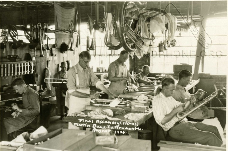 Martin Band Instrument Co 1928-Final Assembly (Horns)