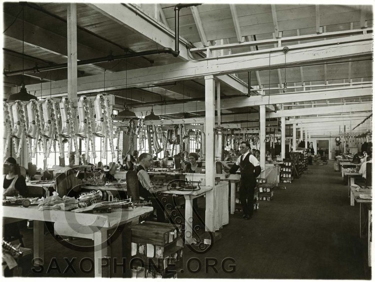 Buescher Factory Padding Department-approx. 1925-1926