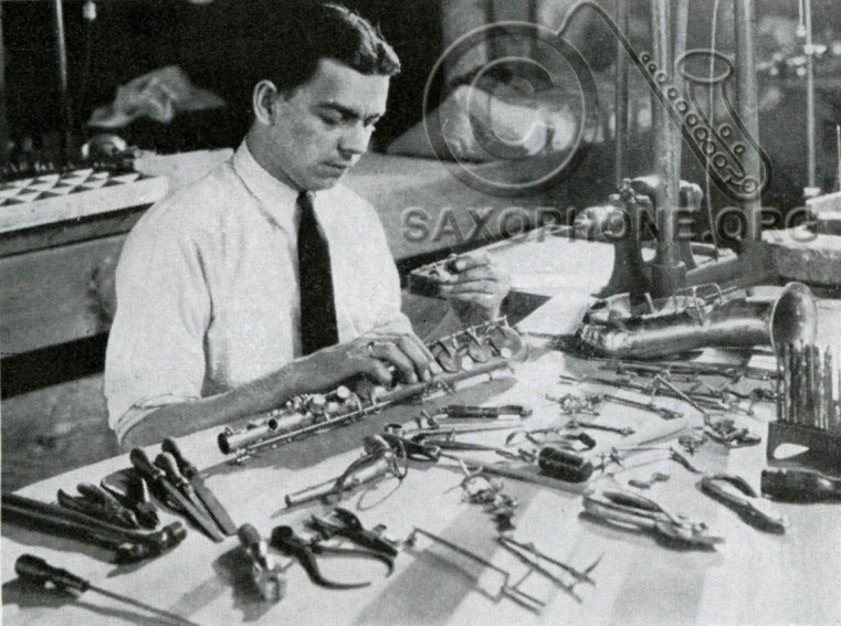 H.N. White King factory-1934-Saxophone Assembly Department