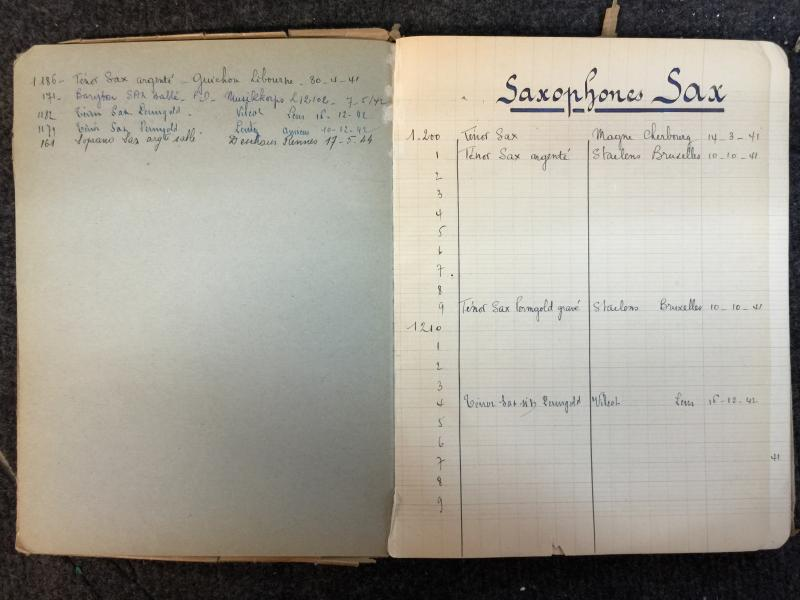 Adolphe Sax log book 3