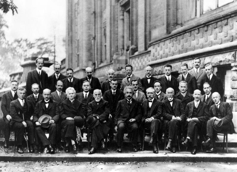 1927 Solvay Conference with Albert Einstein and others